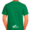 Fish306 Skeleton T-Shirt - Green - Front/Back Logo
